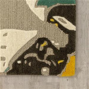 Kalora Kaleido Handmade Rug - 5' x 8' - Grey