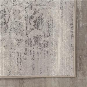 Kalora Intrigue Distressed Damask Rug - 8' x 11' - Cream