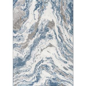 Intrigue Beige/Blue/Cream Rushing Water Area Rug