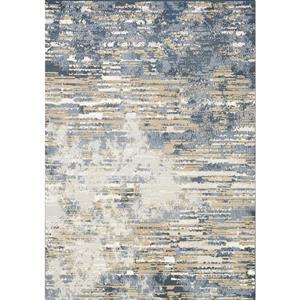 Intrigue Beige/Blue Distressed Rip Rug