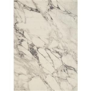 Kalora Infinity Marble Rug - 5' x 8' - Cream