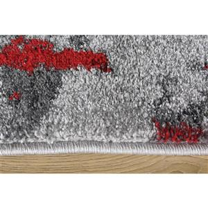 Kalora Freemont Abstract Expression Rug - 8' x 11' - Red