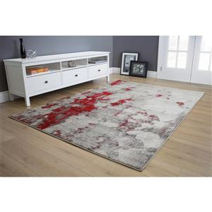 Kalora Freemont Abstract Expression Rug - 5' x 8' - Red