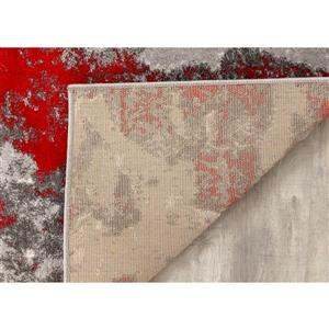 Kalora Freemont Abstract Expression Rug - 7' x 10' - Red