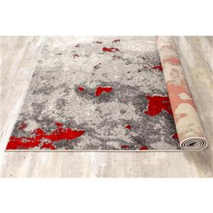Kalora Freemont Abstract Expression Rug - 2' x 4' - Red