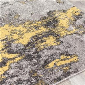 Kalora Freemont Abstract Expression Rug - 5' x 8' - Yellow