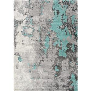 Freemont Grey/Blue Abstract Expression Rug
