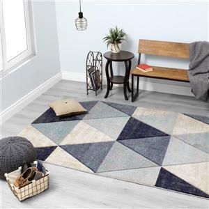 Kalora Freemont Distressed Triangles Rug - 5' x 8' - Blue