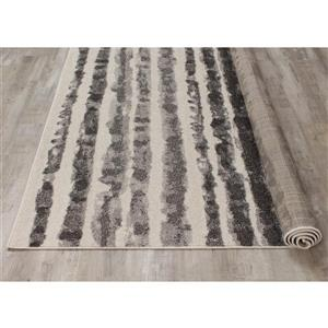 Kalora Focus Marker Stripes Rug - 8' x 11' - Grey