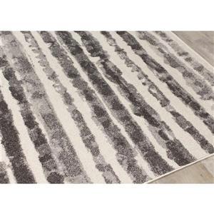 Kalora Focus Marker Stripes Rug - 5' x 8' - Grey