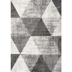 Kalora Focus Cream Variegation Rug - 5' x 8' - Grey
