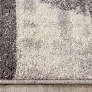 Kalora Focus Cream Variegation Rug - 8' x 11' - Grey