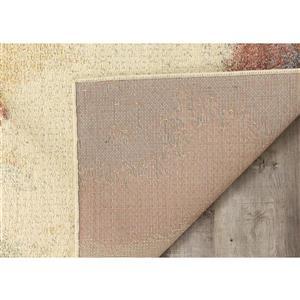 Kalora Focus Colourful Distressed Rug - 5' x 8' - Grey