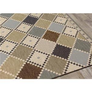 Kalora Domain Checkerboard Quilt Rug - 5' x 8' - Grey