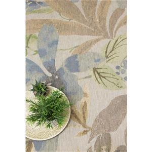 Kalora Domain Beachy Flowers Rugs - 5' x 8' - Cream