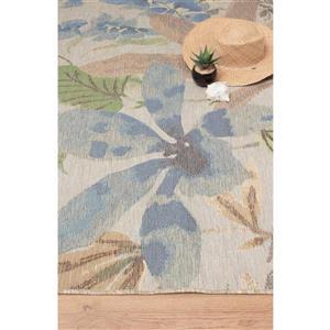 Kalora Domain Beachy Flowers Rugs - 2' x 4' - Cream