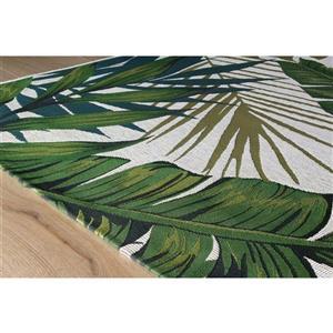 Kalora Domain Botanical Garden Outdoor Rug - 5' x 8' - Green