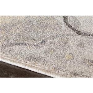 Kalora Darcey Ogee Rug - 5' x 8' - Grey