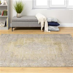 Kalora Cathedral Faded Traditional Rug - 8' x 11' - Yellow