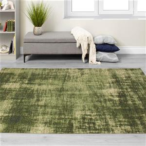 Kalora Cathedral Distressed Hatching Rug - 5' x 8' - Green