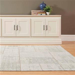 Kalora Cathedral Distressed Patchwork Rug - 5' x 8' - Cream