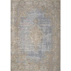 Cathedral Blue/Grey Traditional Border Area Rug