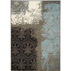Casa Transitional Vintage Lace Charcoal Area Rug
