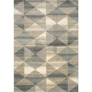 Casa Grey/Taupe/Blue Quilt Area Rug