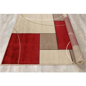 Kalora Casa Familiar Rug - 7' x 10' - Red