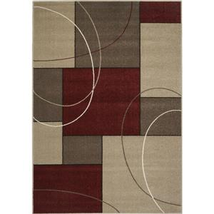 Kalora Casa Familiar Rug - 5' x 8' - Red