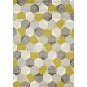 Camino Green/Grey Honeycomb Area Rug
