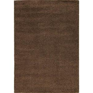 Brown Shaggy Solid Area Rug