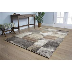 Kalora Breeze Simple Patches Rug - 8' x 11' - Beige