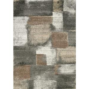 Breeze Grey/Brown Stonework Area Rug