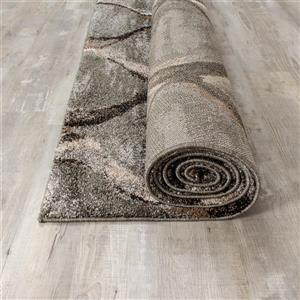 Kalora Breeze Serene Ogee Rug - 8' x 11' - Grey