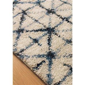 Kalora Ashbury Fine Squares Pattern Rug - 8' x 11' - White