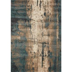 Ashbury Blue/Brown Watercolor Area Rug