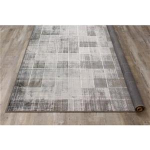 Kalora Antika Distressed Squares Rug - 7' x 10' - Grey