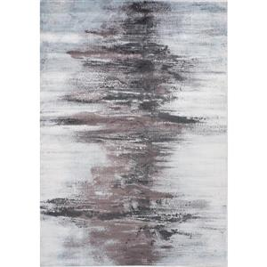 Antika Grey Distressed Snowy Gap Rug