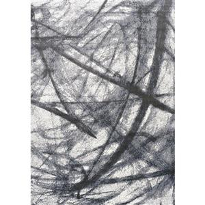 Antika Grey/Black Pastel Scribbles Rug
