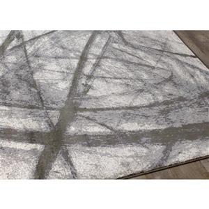 Kalora Antika Pastel Scribbles Rug - 5' x 8' - Grey