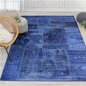 Kalora Antika Brilliant Patchwork Rug - 7' x 10' - Navy