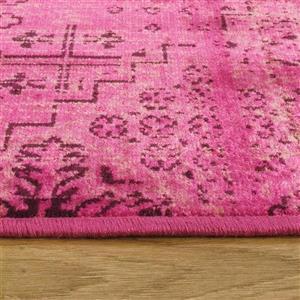 Kalora Antika Brilliant Patchwork Rug - 5' x 8' - Pink