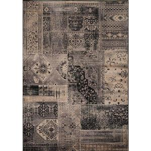 Kalora Antika Brilliant Patchwork Rug - 5' x 8' - Black