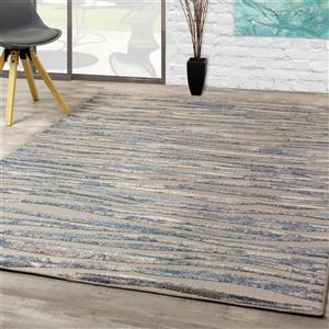 Kalora Alta Simple Waves Rug - 8' x 11' - Cream