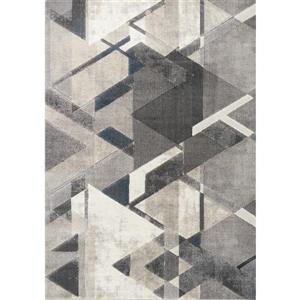 Alida Grey/Blue Triangle Rug