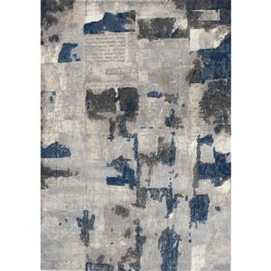 Alida Grey/Blue Patches Rug