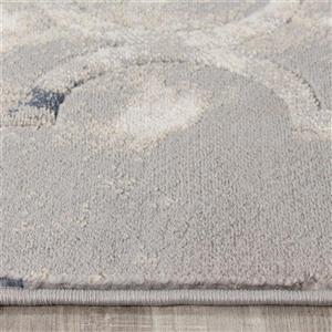 Kalora Alida Reflective Ogee Rug - 5' x 8' - Grey