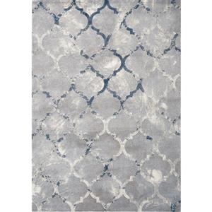 Alida Grey/Blue Ogee Rug