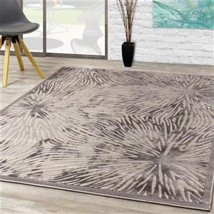 Kalora Alaska Connected Nodes Rug - 5' x 8' - Grey